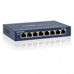 Netgear ProSafe 8-Port 10/100 Switch Metal External Power Supply (FS108 v3) FS108-300PES