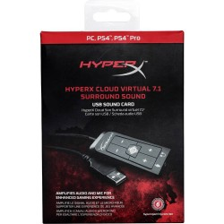 HyperX Cloud Virtual 7.1 Surround Sound USB Sound Card HX-USCCPSS-BK