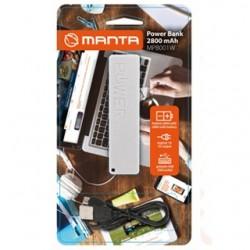 MANTA Powerbanka 2800 mAh MPB001W