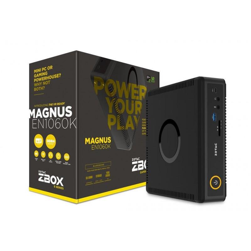 ZOTAC ZBOX EN1060K-BE, NVIDIA GTX1060, 2x DDR4 SODIMM, M2 SSD, 2.5' SATAIII ZBOX-EN1060K-BE