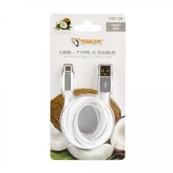 SBOX USB-TYPEC-15W Kábel USB 2.0/TypeC 1,5m biely