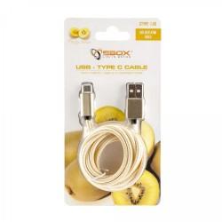 SBOX USB-TYPEC-15G Kábel USB 2.0/TypeC 1,5m zlat