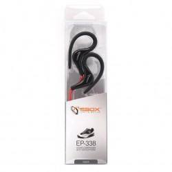 SBOX EP-338B Slúchadlá do uší SPORT blk/red