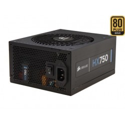 Corsair Power Supply HX750 750W, 135mm fan, modular PSU CP-9020137-EU