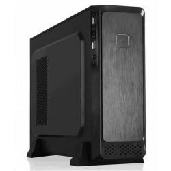 Eurocase MC M08 micro ATX, mATX, bez zdroja, 2x USB2.0, čierna MCM08B