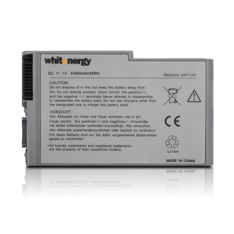 Whitenergy batérie pre Dell Latitude D500 11.1V Li-Ion 4400mAh 03971