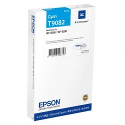 Epson originál ink C13T908240, T9082, XL, cyan, 39ml, Epson...