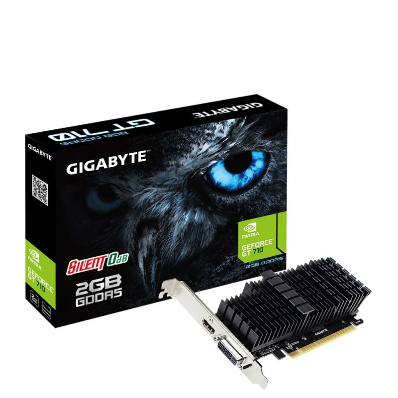 GIGABYTE VGA NVIDIA GT 710 2GB DDR5 (passive) GV-N710D5SL-2GL