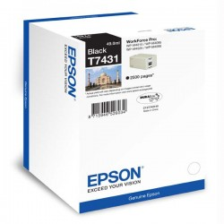 Epson originál ink C13T74314010, black, 2500str., 49ml, Epson...