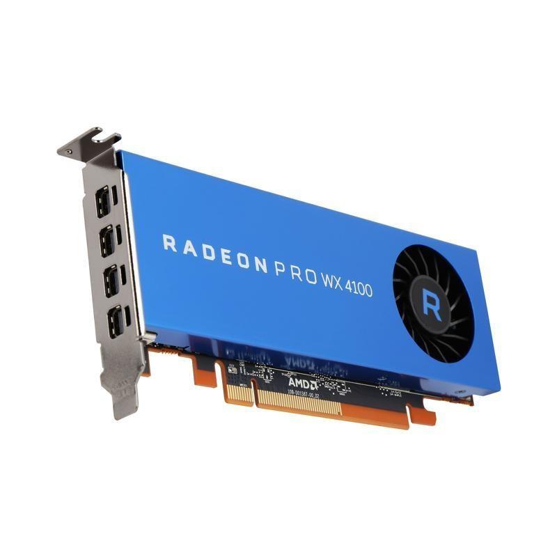 AMD Radeon Pro WX 4100 Workstation Graphics 4GB/128bit GDDR5 4x mDP, LP 100-506008
