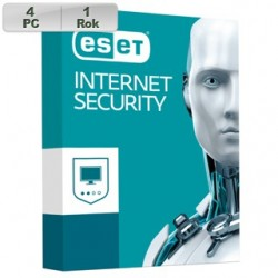 ESET Internet Security 2018 4PC na 1r 8588006748956