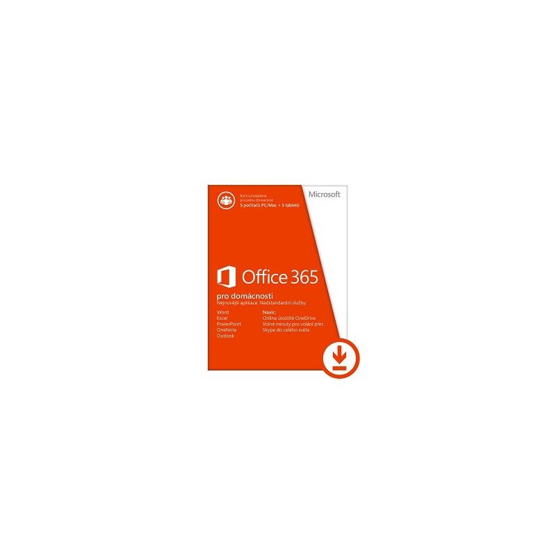 Office 365 pro domácnosti 32-bit/x64 All Lng - předplatné na 1 rok - elektronická licence 6GQ-00092