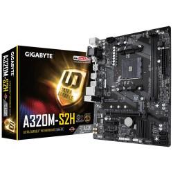 GIGABYTE MB Sc AM4 A320M-S2H, AMD A320, 2xDDR4, VGA, mATX GA-A320M-S2H
