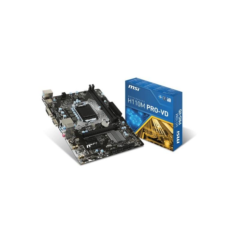 MSI H110M PRO-VD/Socket 1151/DDR4/USB3/D-SUB/DVI//uATX
