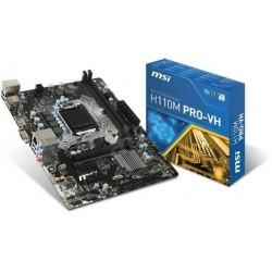MSI H110M PRO-VH/Socket 1151/DDR4/USB3/D-SUB//HDMI/uATX