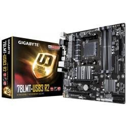 GIGABYTE MB Sc AM3+ 78LMT-USB3 R2, AMD 760G, 4xDDR3, VGA, mATX GA-78LMT-USB3 R2