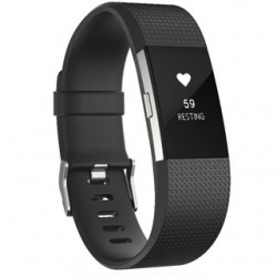 FITBIT CHARGE 2 L Black/Silver FB407SBKL-EU