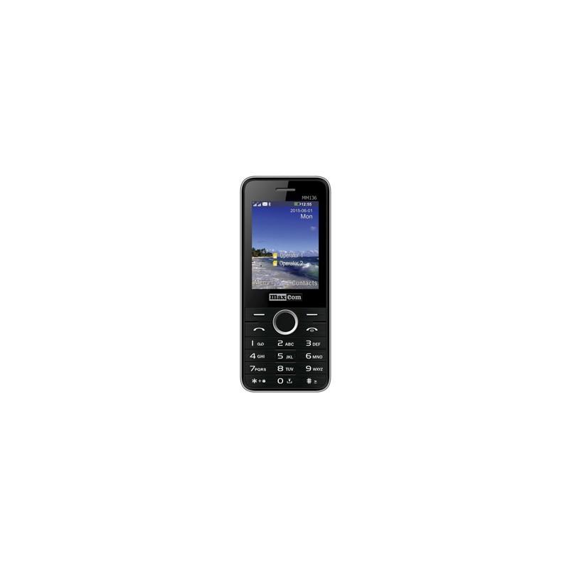 MAXCOM Telefón DUAL Sim MM136 čierno/strieborný MM136CZSR