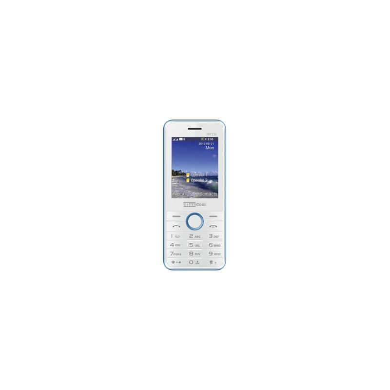 MAXCOM Telefón DUAL Sim MM136 bielo/modrý MM136BINIEB