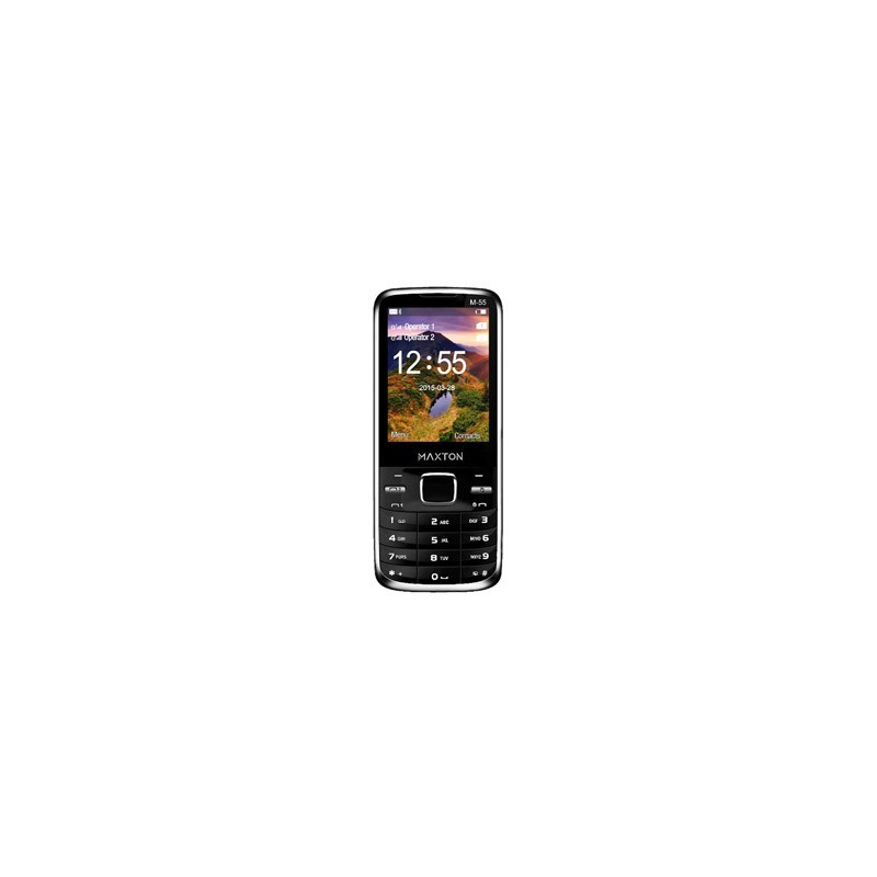 MAXCOM Telefón DUAL Sim MM55 čierny