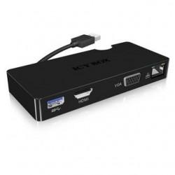 RAIDSONIC ICY BOX Adapter USB3.0/LAN+ VGA+USB3.0 IB-DK401
