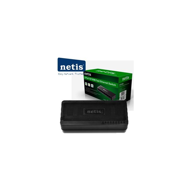 NETIS ST3108S Switch 8-Port/100Mbps/Desk
