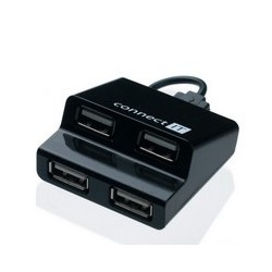 CONNECT IT CI-108 USB hub 4 porty STEP čierny