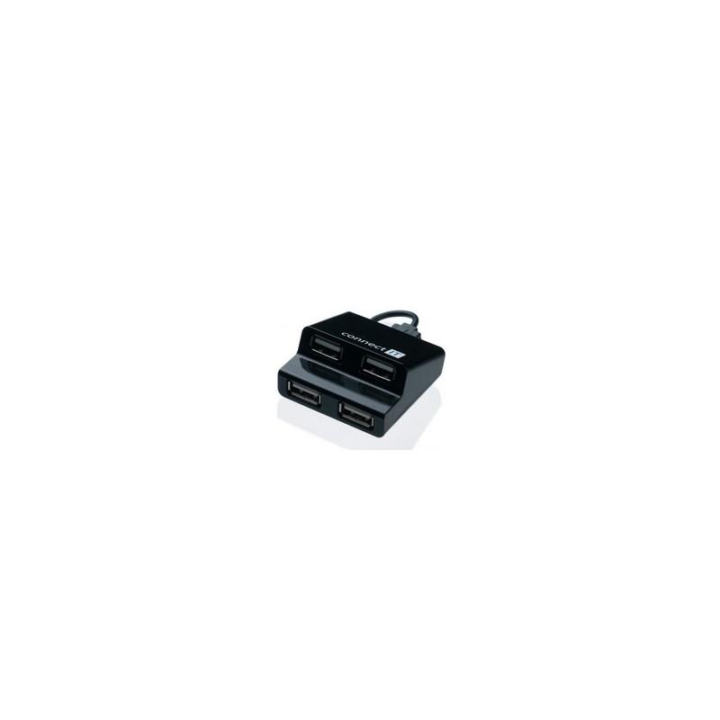 CONNECT IT CI-108 USB hub 4 porty STEP čierny