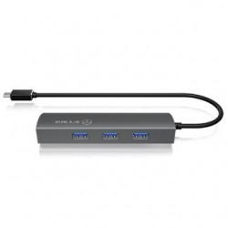 RAIDSONIC HUB USB Type C/3xUSB3.0 + RJ45 IB-HUB1406-C