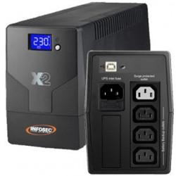 INFOSEC X2 LCD USB 500VA 66036