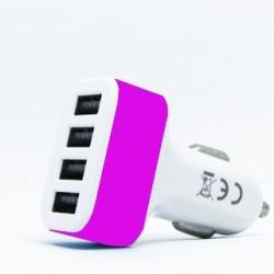 MANTA Autonabíjačka 4x USB 2.0 12V MA435 wht/pink MA435BIR
