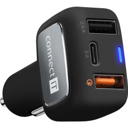 CONNECT-IT InCarz QUICK CHARGE 3.0 CCC-6010-BK