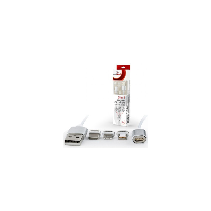 GEM Kábel USB/Lightning, Micro USB, USB C 1m CC-USB2-AMLM31-1M