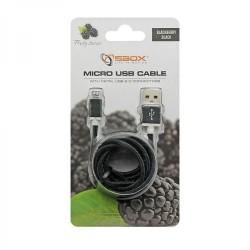 SBOX USB-10315B Kábel USB 2.0/MicroUSB čierny