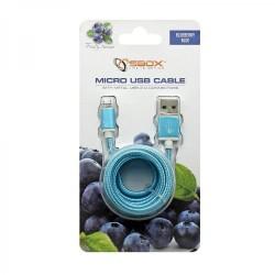SBOX USB-10315BL Kábel USB 2.0/MicroUSB modrý