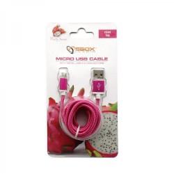 SBOX USB-10315P Kábel USB 2.0/MicroUSB ružový