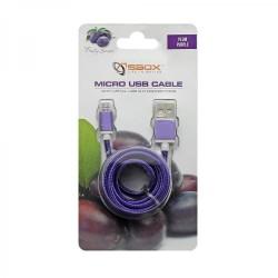 SBOX USB-10315U Kábel USB 2.0/MicroUSB fialový