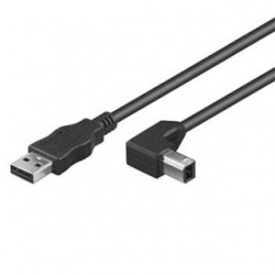 PremiumCord KABEL USB 2.0 2m black 90° konektor ku2ab2-90