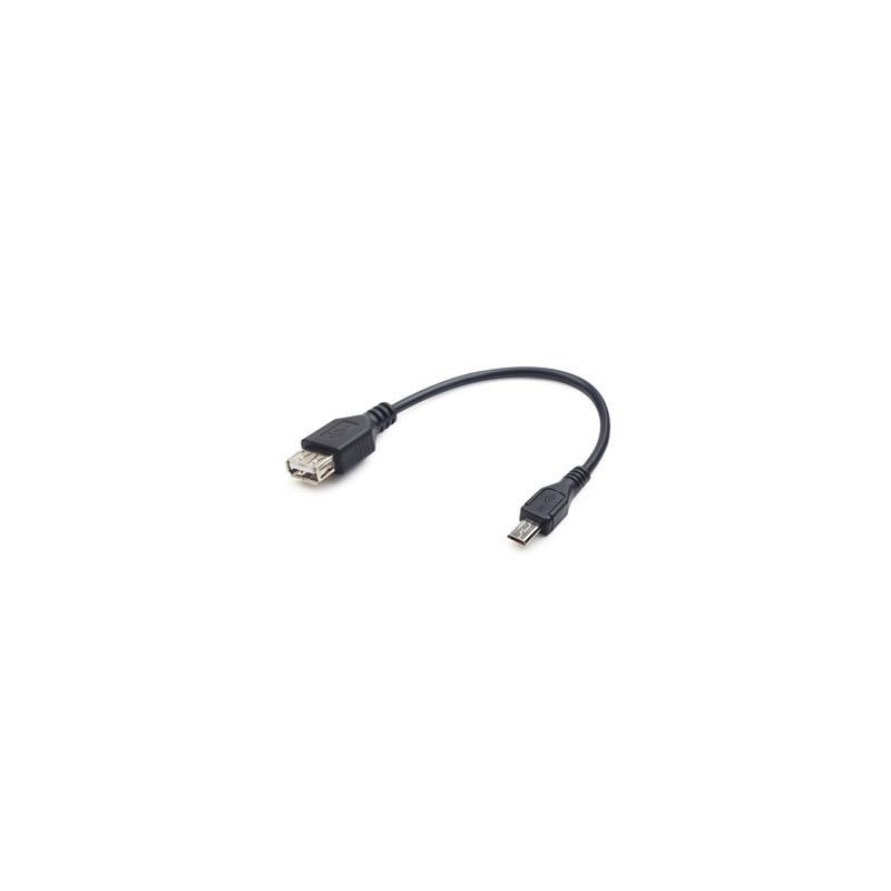 Redukcia Micro USB Male na USB A Female OTG 15cm A-OTG-AFBM-03