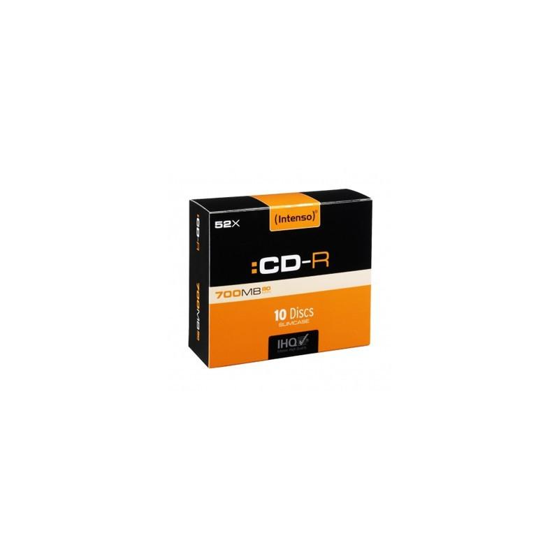 INTENSO CD-R Slim Case 700MB 10ks 1001622
