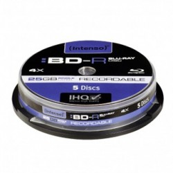 INTENSO Blu-Ray BD-R Cake Case 25GB 5ks 5001111