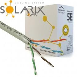 SOLARIX kábel UTP CAT5E PVC 305m/balenie SXKD-5E-UTP-PVC