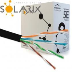 SOLARIX kábel vonkajší UTP PE CAT5E 305m/balenie SXKD-5E-UTP-PE