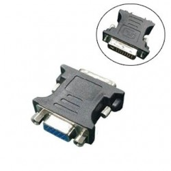 GEMBIRD Redukcia DVI-A 24pin/VGA 15pin čierna A-DVI-VGA-BK