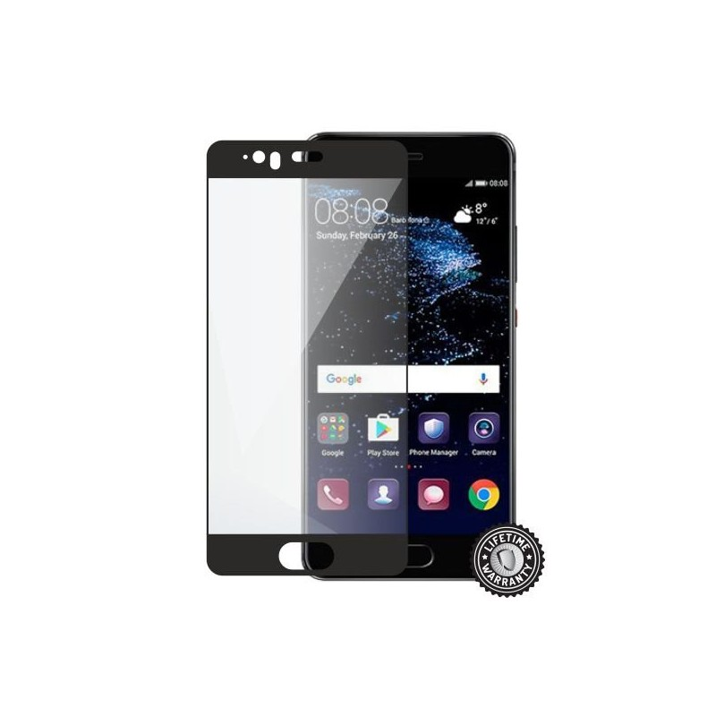 Screenshield HUAWEI P10 Tempered Glass protection (full COVER black) - Film for display protection HUA-TG25DBP10-D