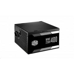 CoolerMaster zdroj MWE 400W, APFC, 12cm fan, 85 Plus čierny MPW-4002-ACABW-NL