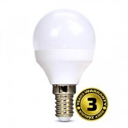 Solight LED žiarovka, miniglobe, 6W, E14, 3000K, 450lm, biele prevedenie WZ416