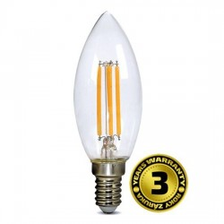Solight LED žiarovka retro, sviečka 4W, E14, 3000K, 360°, 440lm WZ401A