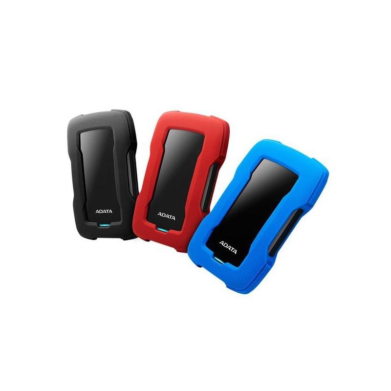 """A-DATA DashDrive™ Durable HD330 2,5"""" external HDD 1TB USB 3.1 red AHD330-1TU31-CRD"""