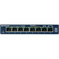 NETGEAR GS108 8x10/100/1000Mbps ProSafe Ethernet Switch GS108GE